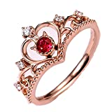 Dragon868Jewelry 2018 Neue Mode Gold HüBsche Krone Dame Crystal Ring Prinzessin Ring (Roségold)