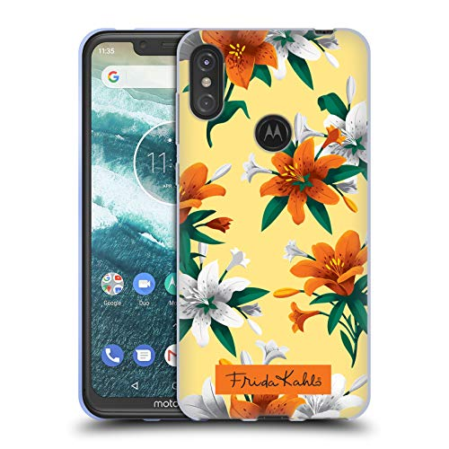 5af56e26da5 Official Frida Kahlo Orange Lilies Flowers Soft Gel Case Compatible for  Motorola One Power (P30