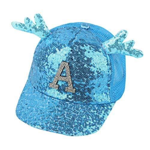 Syeytx Summer Eltern-Kind-Frauen Lady Paillette Hat Baseball Cap Sonnenhut Cap A Opa Womens Cap