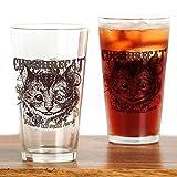 CafePress–Grinsekatze Carnivale–Pint-Glas