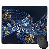 Gaming Mauspad 3d Abstract Fractal Balls Flying Rubber Mousepad (30 x 25 cm)   Fransenfreie Ränder   Rutschfest
