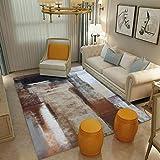 DAMENGXIANG Brown Abstract Alfombra para Salón Mesa De Café Habitación Dormitorio Mat Felpudo Antideslizante Decoracion Suave Almohadilla Pie 60×90 Cm.
