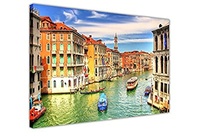 Italy Venice Grand Canal Canvas Prints Wall Art Framed Pictures Modern City Art Posters - low-cost UK light shop.