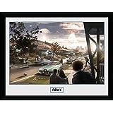 1art1 100272 Fallout - 4, Sanctuary Hills Panic Gerahmtes Poster Für Fans Und Sammler 40 x 30 cm