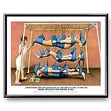 Veit`S Bilder Wandbild Cartoon Beruf Physiotherapie Schlingentisch - Gruppentherapie Macht doch eigentlich auch viel mehr Spaß! (Mittel 40x50mit Rahmen)