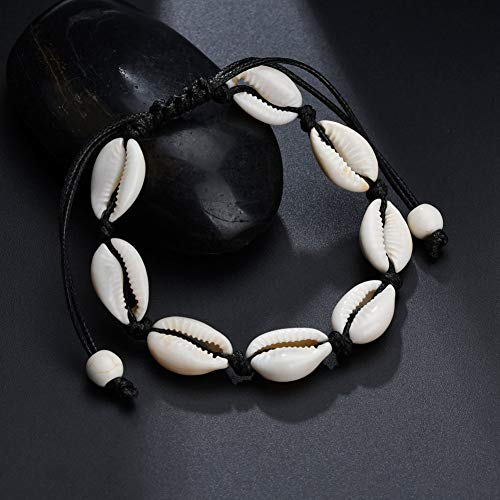 Imagen de tiantxs pulsera natural de la amistad con cordón de algodón macramé tejido a mano