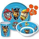 Paw Patrol Kinderservice mit Teller, Müslischüssel und Trinkbecher aus Melamin