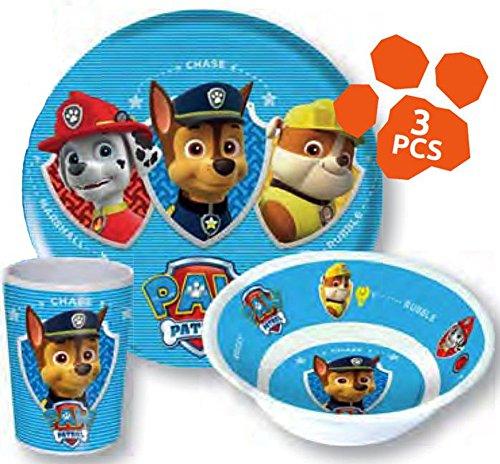Kitty Paw (Paw Patrol Kinderservice mit Teller, Müslischüssel und Trinkbecher aus)