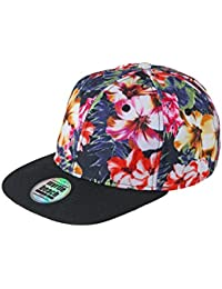 Myrtle Beach Trendy cap in all-over design (flower/black)