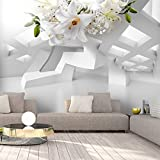 murando - Fototapete Blumen Lilien 350x256 cm - Vlies Tapete - Moderne Wanddeko - Design Tapete - Wandtapete - Wand Dekoration - Abstrakt Blume 3D Illusion Optik a-A-0296-a-a