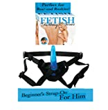"Fetish Fantasy 4.5"" Beginner's Strap-on for Him, Blue"