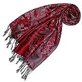 Lorenzo Cana Designer Pashmina hochwertiger Marken-Schal floral gewebtes Blumen Muster Damast - Webart 70 x 180 cm Modal Schaltuch Schal Tuch Jacquard 93232