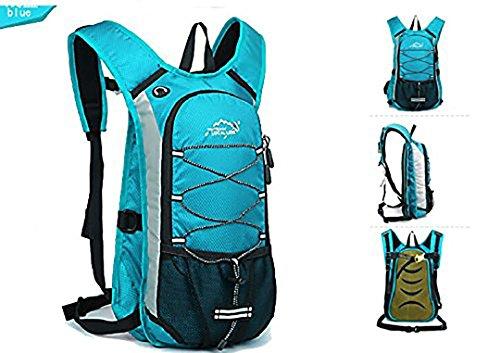 Bequem Wasserdicht Rucksack für Reisen Wandern Camping Radfahren Alle Outdoor-Sport Himmelblau