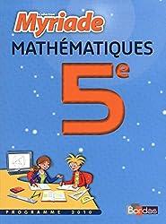 MATHS 5E MYRIADE MANUEL PF 10