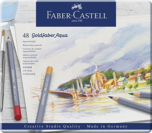 Faber-Castell 114648 - Aquarellstifte Goldfaber, 48er Etui