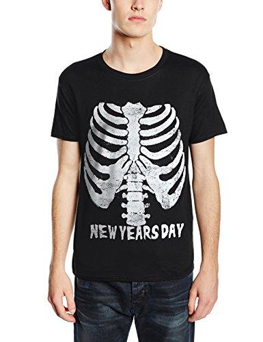 Plastic Head - New Years Day Ribcage, T-Shirt uomo, Schwarz - Schwarz, X-Large