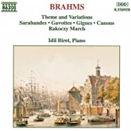 Brahms: Theme And Variations / Sarabandes / Gavottes