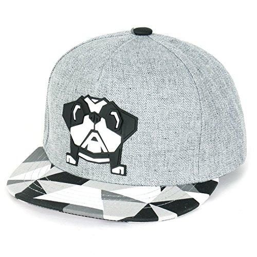 ililily Cute Bulldog New Era Style Snapback Toddler Baby Kids Hat Baseball Cap (Hut Paper Boy)