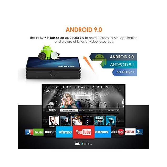 Android TV Box , Ninkbox Android 9.0 TV Box N1 Max RK3318 Quad-Core 64bit Cortex-A53, unterstützt Bluetooth 4.0/WLAN 2.4G/5.0G /4K HD/ USB 3.0/ HDMI 2.0a Smart tv Box Android Set-top-Box