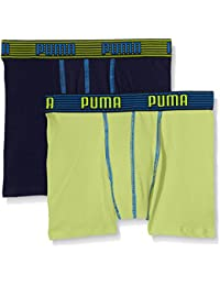 Puma Jungen Unterhose Elastic Striped Basic Boxer 2p