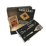 Grillset Ausstattung für Gillmeister Grillbesteck Grillzange Grillset Besteckset