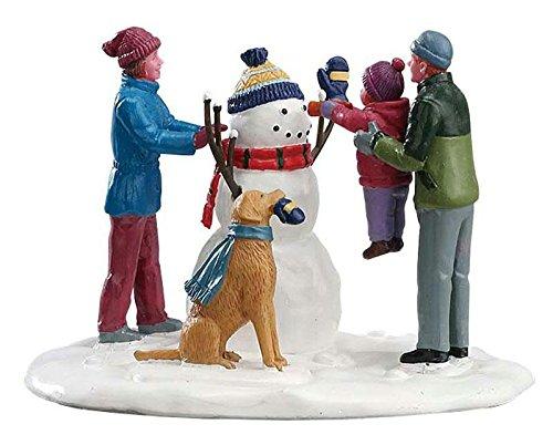 Lemax - Her First Snowman - Ihr erster Schneemann - Polyresin - Figuren & Zubehör für die eigene kleine Weihnachtswelt (Figuren Weihnachtsdorf)