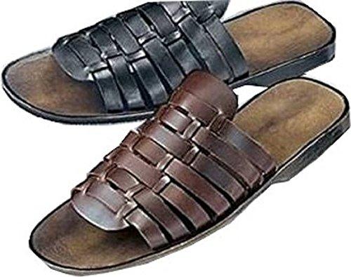 luxuspur Herren pantolette Schwarz 136828 - noir - noir Noir