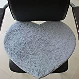 FidgetGear Super Soft Heart Shaped Rug, Anti-Skid Floor Mat, Strong Absorbent Water Mat for Home 30cmx40cm with 7 Colors for Choice Light Gray 30 * 40CM