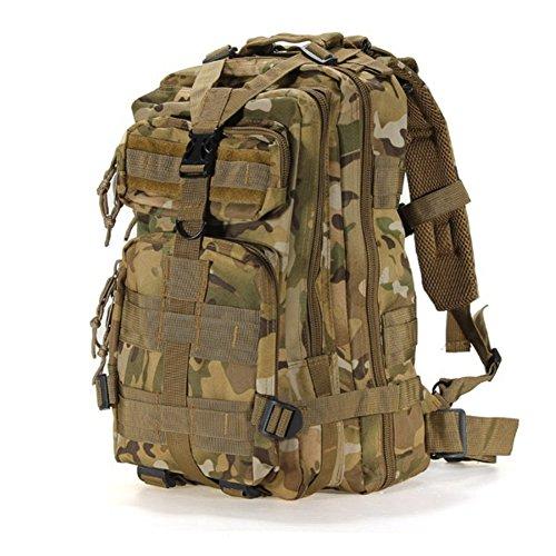 Originaltree outdoor militare zaino in nylon grande capacità tattico zaino per escursionismo arrampicata, cp camouflage, taglia unica