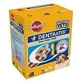 Pedigree Dentastix Hundeleckerli für kleine Hunde, Kausnack mit Huhn- und Rindgeschmack gegen Zahnsteinbildung für gesunde Zähne, 1er Pack (1 x 4 Pack)