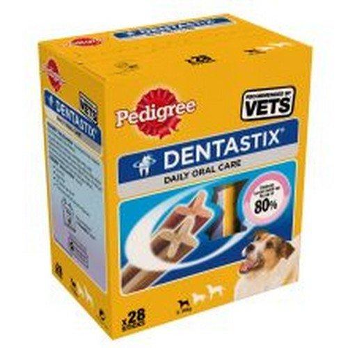 Artikelbild: Pedigree Dentastix Hundeleckerli für kleine Hunde, Kausnack mit Huhn- und Rindgeschmack gegen Zahnsteinbildung für gesunde Zähne, 1er Pack (1 x 4 Pack)