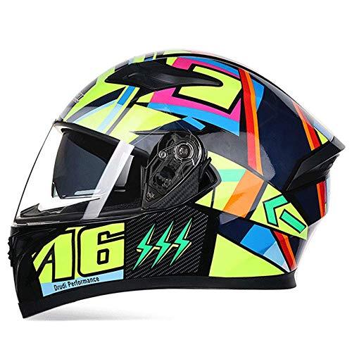Preisvergleich Produktbild MKXW Integral-Helm Motorradhelm inkl Durchsichtig Visier / Norm Helm-Senden Sie Handschuhe