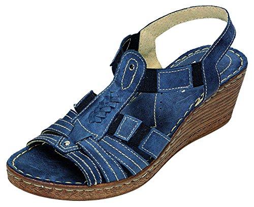 şahin omfort–Sandales Femme Pantolette D. Sandales Bleu - Jeansblau