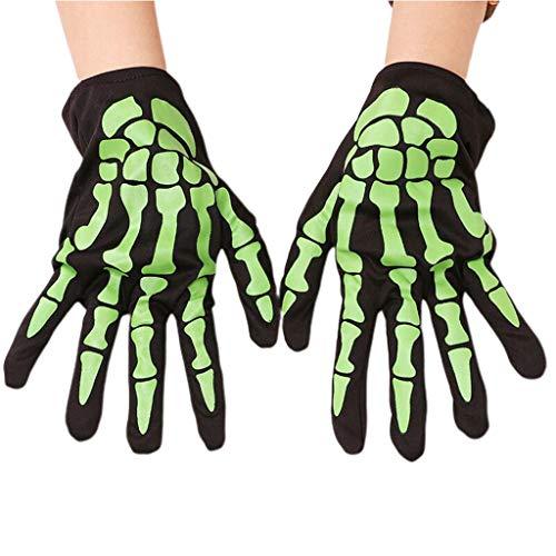 ruiruiNIE 1 para Halloween Schädel Klaue Knochen Skeleton Handschuhe Frauen Männer Vollfinger Handschuhe Dance Party Requisiten Cosplay Kostüm Zubehör - - Hokus Pokus Kostüm