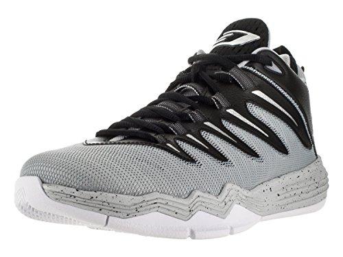 Nike Jordan CP3.IX, Chaussures de Sport-Basketball Homme, 41 EU Noir / argenté / gris / doré (noir / argenté métallique - gris loup - platine pur)