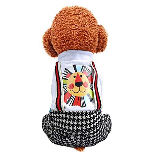Kostüm Katzen Für Niedliche - Haustierkleidung Kleidung für Hunde Katze Pet Puppy Dog Cat Pet Clothes,Haustier Overall Hund Katze Shirt Welpe Winter Warme Kleidung Niedliches Print Pullover Kostüm