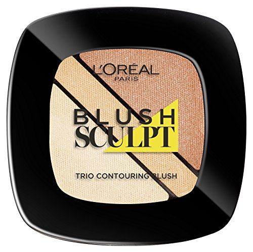 L'Oréal Paris Infaillible Blush Trio, 101 Sand / Einzigartiges 3 in 1 Contouring Rouge Set für den perfekten Ombré-Look, für jeden Hauttyp / 1 x 4g