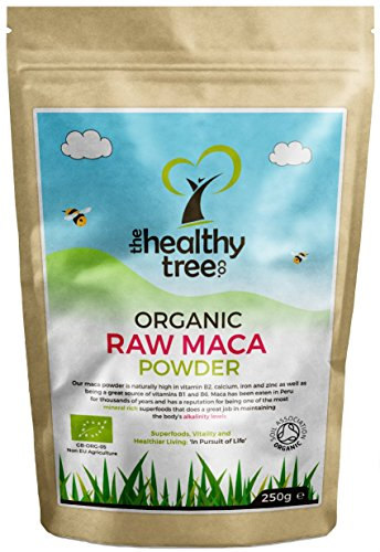 Organic Maca Powder - High in Vitamins B1, B2, B6, Calcium, Iron and Zinc - UK Certified Pure Maca Powder by TheHealthyTree Company Test