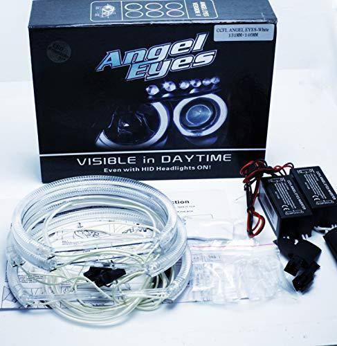 DLICHTRINGE LED RINGE STANDLICHT E46 E90 E91 2x 146mm + 2x 131mm ( ohne Xenon ) CANBUS ohne Projektor weiß 6000 K ()