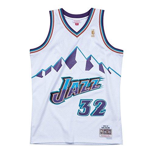 Mitchell & Ness - Utah Jazz - Karl Malone - Swingman Jersey Trikot - weiss - NBA Basketball (M)