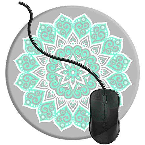 Preisvergleich Produktbild Mauspad Friedensmandala Tiffany,  Runde Gaming Mauspad Matte Reibungslos Weich Rutschfester Gummi Basis für PC Laptop 1U15