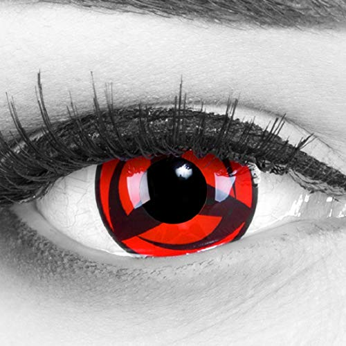 Kontaktlinsen Kakashi Kostüm Hatake - Meralens, weiche 12 Monatslinsen,  Kakashi, ohne Stärke, mit Behälter, 1 Paar ( 1 x 2 Stück)