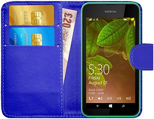 Blau Lumia Case Nokia Handy 530 (Nokia Lumia 530 Hülle Leder Klapphülle mit Kartenfach G-Shield Schutzhülle Tasche Flip Case Cover Etui Handyhülle für Nokia Lumia 530 mit Displayschutzfolie und Stylus-Stift - Blau)