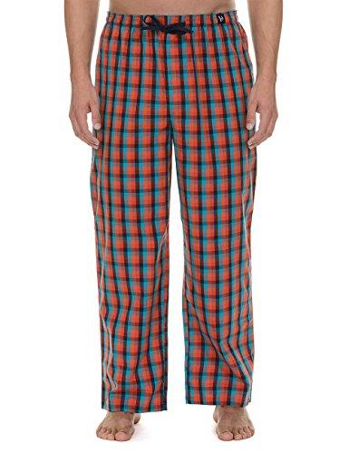 bruno-banani-woven-pant-good-deed-parte-inferior-del-pijama-para-hombre-rot-hummer-blau-orange-karo-
