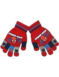 Guantes para niño Spider-Man impresos arañas rojo y azul tu
