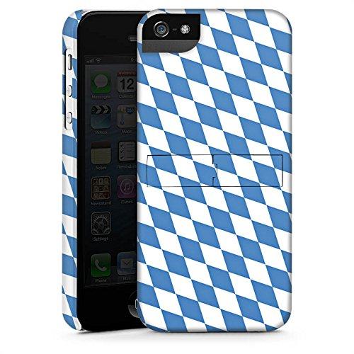Apple iPhone 5 Silikon Hülle Case Schutzhülle Bayrische Flagge Bayern Fahne Premium Case StandUp