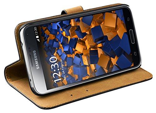 mumbi Ledertasche im Bookstyle für Samsung Galaxy S5 / S5 Neo Tasche (S5-kreditkarten-etui Leder)