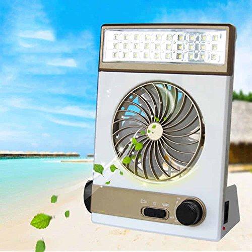 Preisvergleich Produktbild Kaxima Outdoor-Home multifunktionaler LED Lampe Mini kleinen Ventilator USB solar powered outdoor camping Lampe