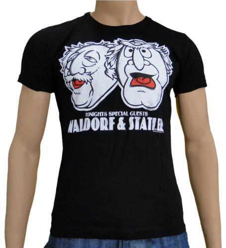 Preisvergleich Produktbild Muppets - Waldorf & Stadler Logoshirt T-Shirt Black, XL