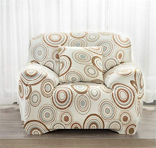 SHFOLSFH 1/2/3/4 Seater Flexible Printing Sofa Cover Elastic Stretch Couch Cover Love-Seat Sofa Cover Home Decoration Cushion Pillow Case B5873 3 seat 185-230cm (Sofa Love Seat Cover Rot)